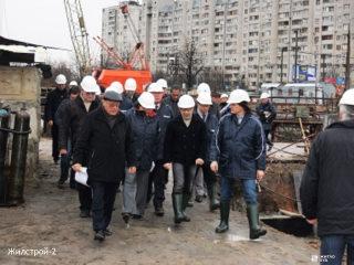 Руководители Харьковского региона ознакомились с ходом строительства станции метро «Победа»