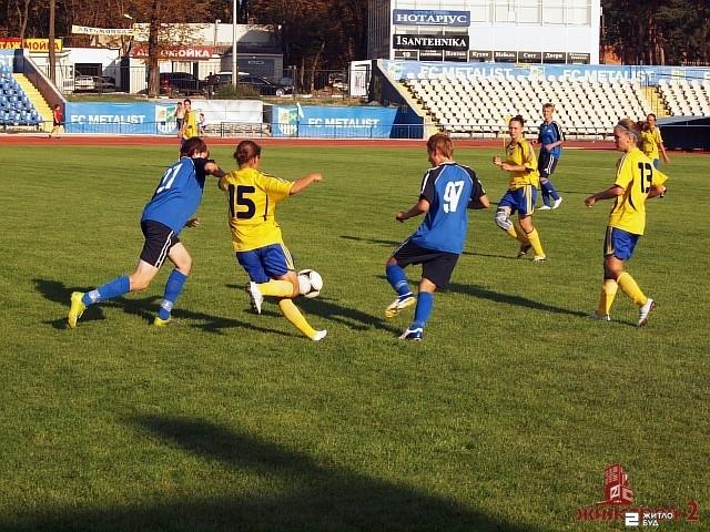 Команда «Жилстрой-2» сыграла матч 9-го тура чемпионата Украины по футболу среди женщин