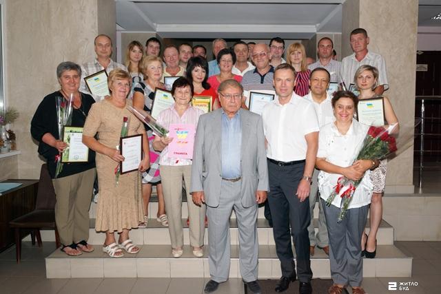 Награждение сотрудников ОДО «Жилстрой-2» в честь Дня строителя