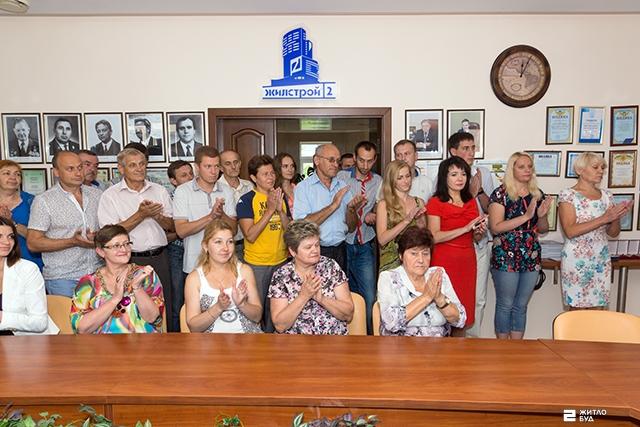 Cотрудники ОДО «Жилстрой-2» получили награды в честь Дня строителя