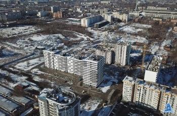 """В секции №1 дома №4 ЖК """"Пролiсок"""" установлено перекрытие над четвертым этажом"""
